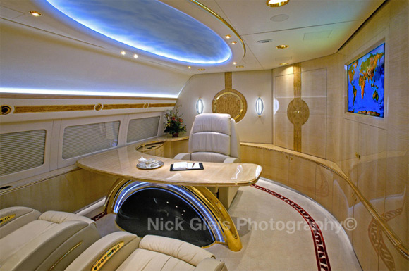 office in prviate jet Photos From The Inside Of Most Luxurious Private Jets