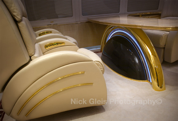 private jet golden chair Photos From The Inside Of Most Luxurious Private Jets