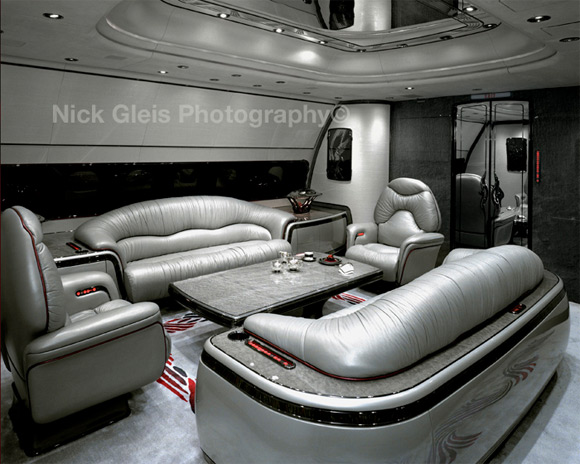 silver furniture private jet Photos From The Inside Of Most Luxurious Private Jets